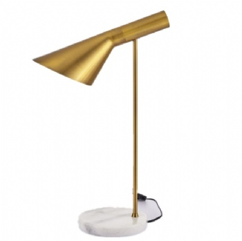 Post-modern Brass Marble Bast Table Lamp